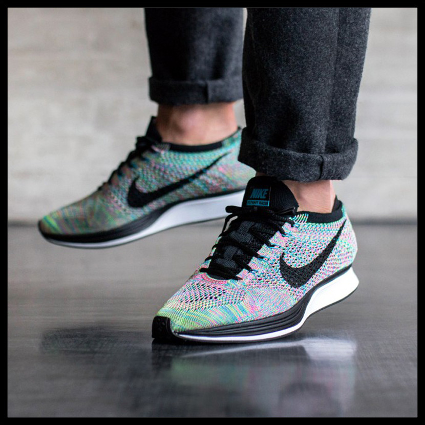 promo code ddf79 69d47 NIKE (Nike) FLYKNIT RACER (fried food knit racer) MENS sneakers GREEN  STRIKEBLACK-BLUE LAGOON (green strike  black blue lagoon) 526628 304  ENDLESS TRIP ...