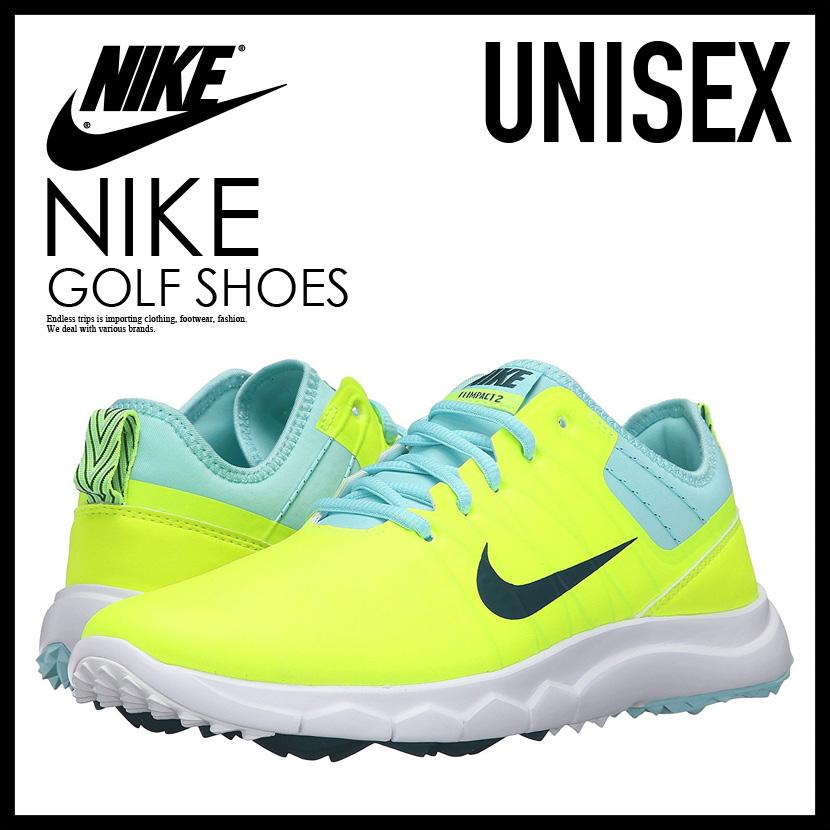NIKE Nike WOMENS NIKE FI IMPACT 2 FI impact 2 MENS WOMENS GOLF SHOES  spikesless VOLT MIDNIGHT TURQRIO TEALCP yellow   turquoise 776093 700  ENDLESS
