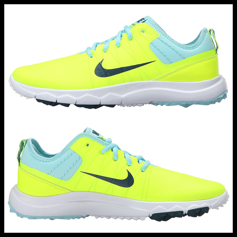 NIKE (Nike) WOMENS NIKE FI IMPACT 2 (FI impact 2) MENS WOMENS GOLF SHOES  spikesless VOLT/MIDNIGHT TURQ-RIO TEAL-CP (yellow / turquoise) 776093 700  ENDLESS ...