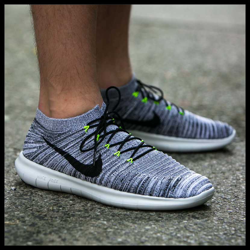 NIKE (Nike) FREE RUN MOTION FLYKNIT (free orchid motion fly knit) MENS  sneakers WHITE BLACK-VOLT-OFF WHITE (white   black   yellow) 834584 100  ENDLESS TRIP ... 034331ca5