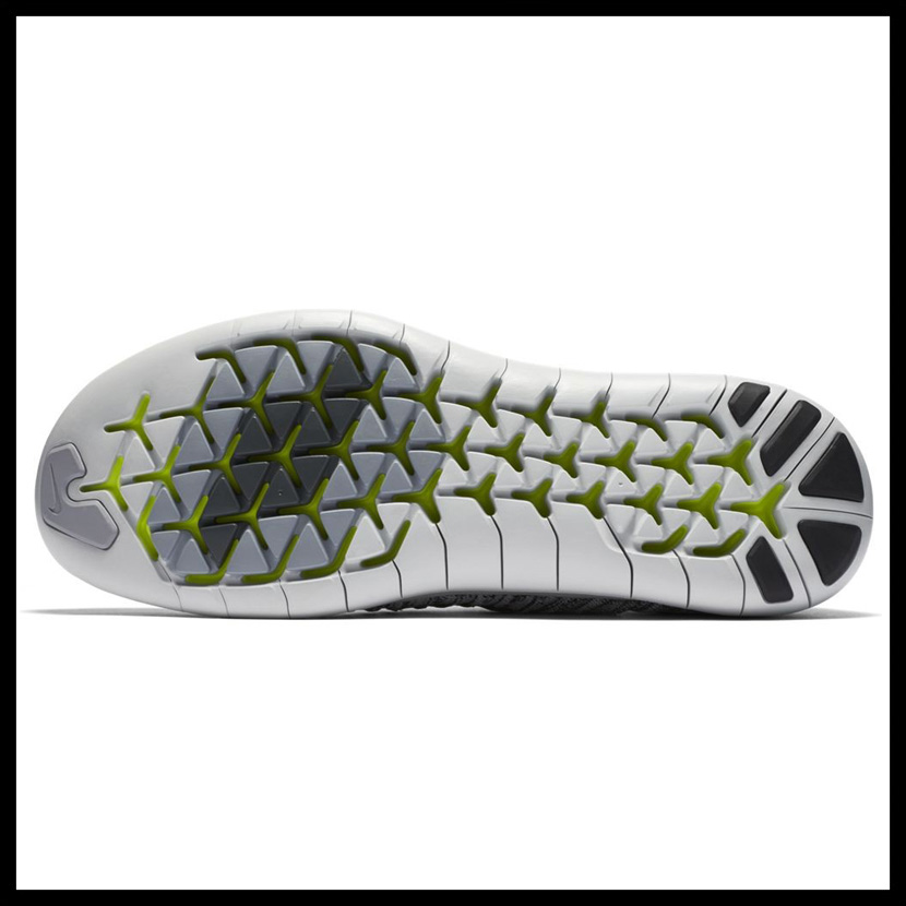 NIKE (Nike) FREE RUN MOTION FLYKNIT (free orchid motion fly knit) MENS sneakers WHITEBLACK VOLT OFF WHITE (white black yellow) 834584 100 ENDLESS