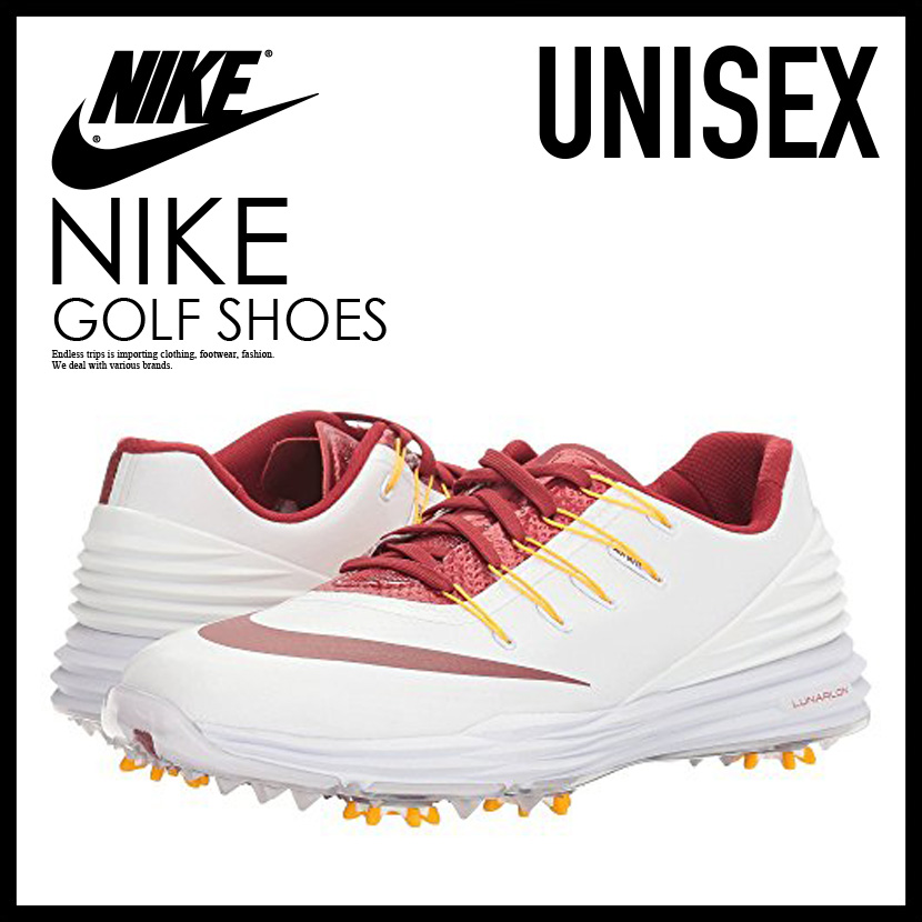 NIKE(耐吉)WOMENS NIKE LUNAR CONTROL 4 CL(runakontororu)女子的MENS人GOLF SHOES WHITE/TM CRMSN-UNVRSTY GL(SC)(白/紅/黄色)838116 111 ENDLESS TRIP