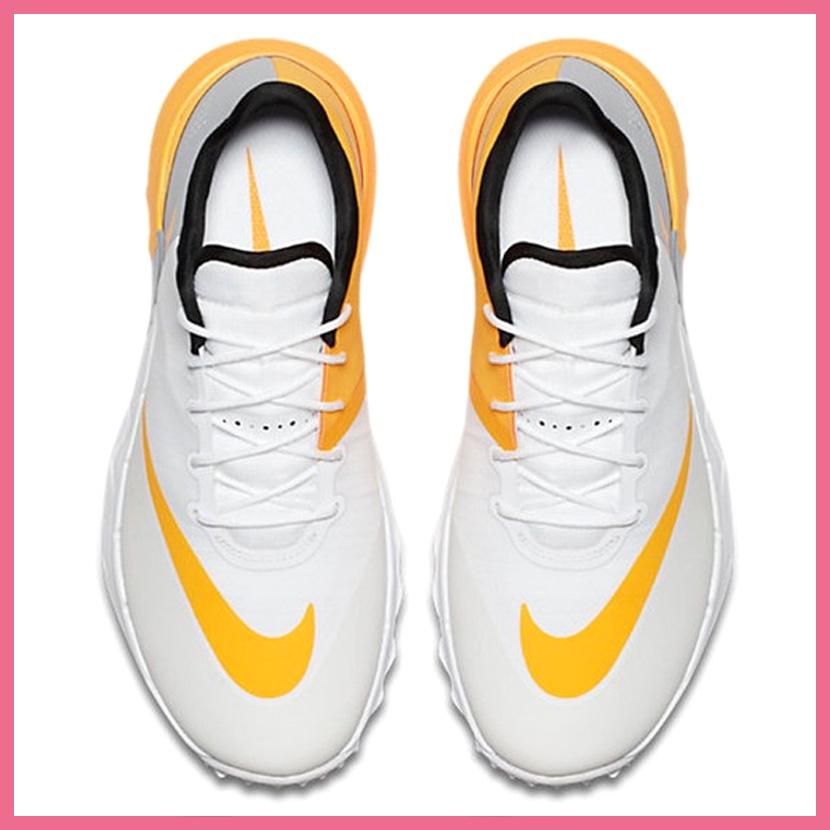 90ce7e689eaa NIKE (Nike) WOMENS NIKE FI FLEX (FI flextime) women GOLF SHOES spikesless  WHITE LASER ORANGE-WOLF GREY (white   orange   gray) 849973 102 ENDLESS  TRIP ...