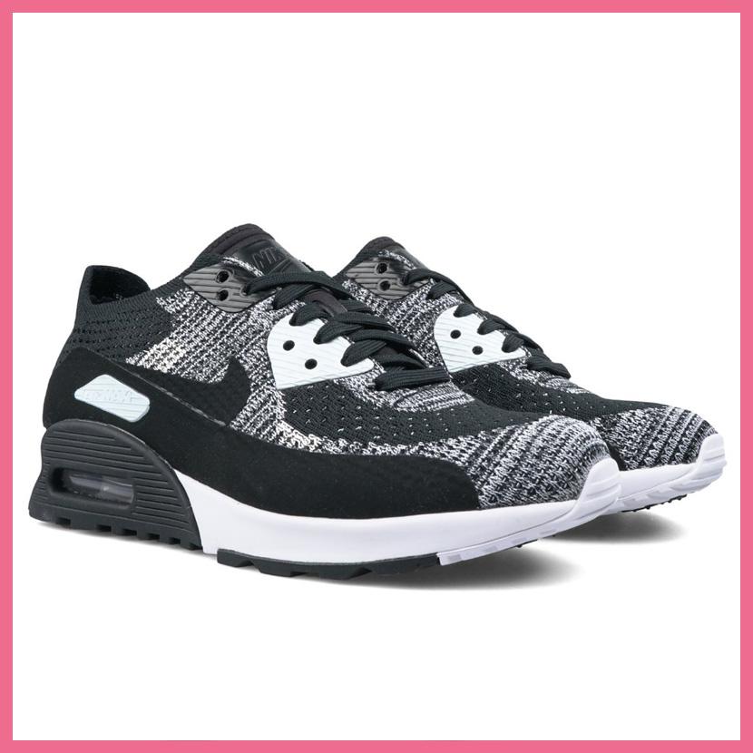 Rakuten shopping marathon! NIKE (Nike) WOMENS AIR MAX 90 ULTRA 2.0 FLYKNIT (Air Max 90 ultra 2.0 fly knit) women sneakers BLACKBLACK WHITE ANTHRACITE