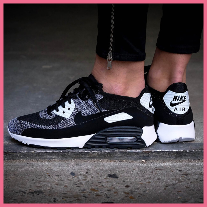 sale retailer a2497 57aad NIKE (Nike) WOMENS AIR MAX 90 ULTRA 2.0 FLYKNIT (Air Max 90 ultra 2.0 fly  knit) women sneakers BLACK BLACK-WHITE-ANTHRACITE (black   white) 881109  002 ...