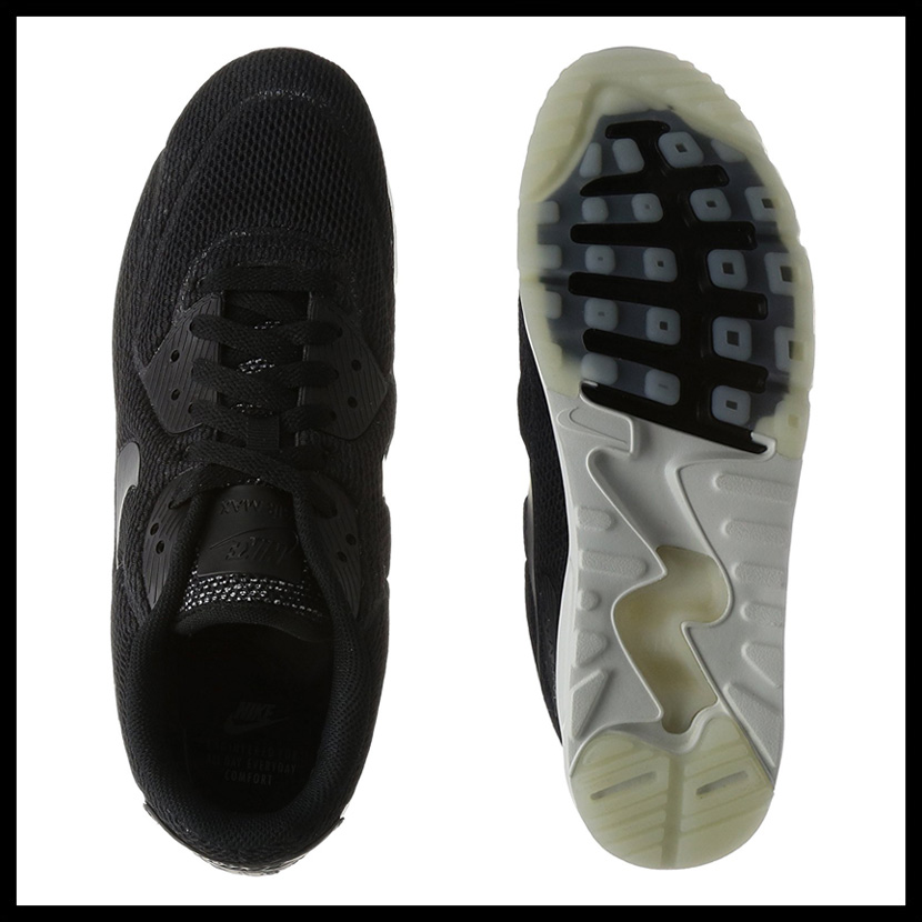 NIKE (Nike) AIR MAX 90 ULTRA 2.0 BREATHE (Air Max 90 ultra breath) men's sneakers BLACKBLACK SUMMIT WHITE (black white) 898010 001 ENDLESS TRIP