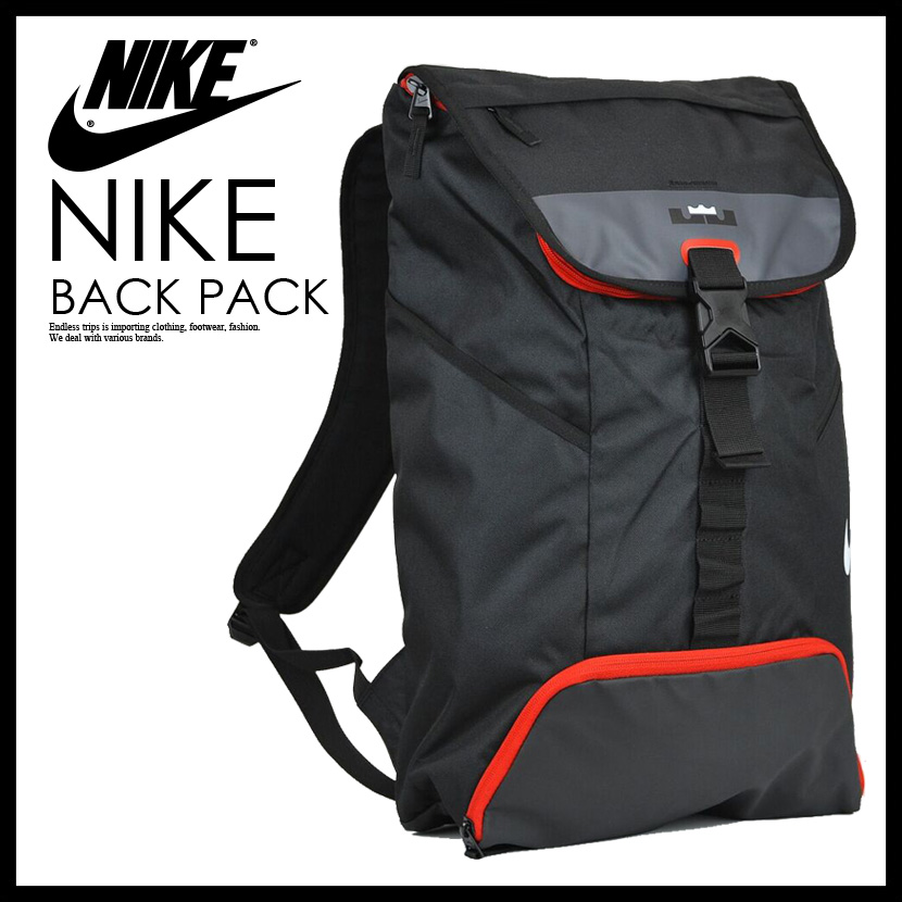 black and red nike bag