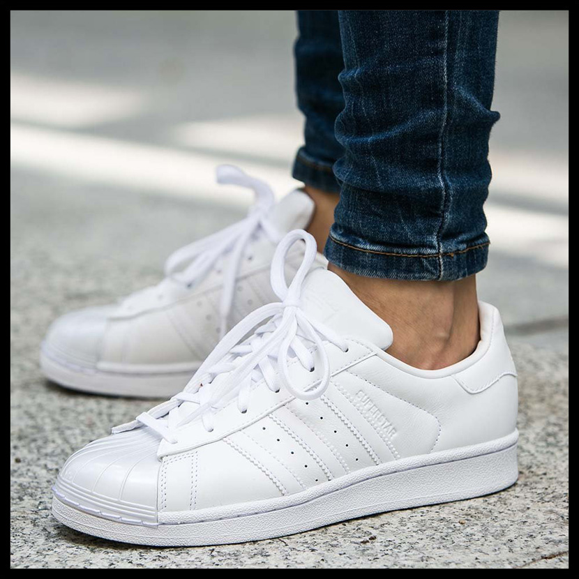 adidas (Adidas) SUPERSTAR GLOSSY TOE W (superstar glossy toe) MENS Womens men women sneakers shoes FTWWHT/FTWWHT/CBLACK (white / black) BB0683 ENDLESS TRIP ...