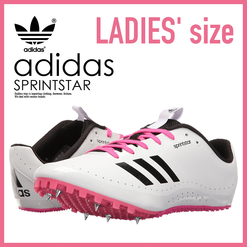 RUNNING WHITE FTW/BLACK (white / pink / black) BB5751 ENDLESS TRIP for the  adidas (Adidas) SPRINTSTAR W (sprint star) WOMENS running short distance