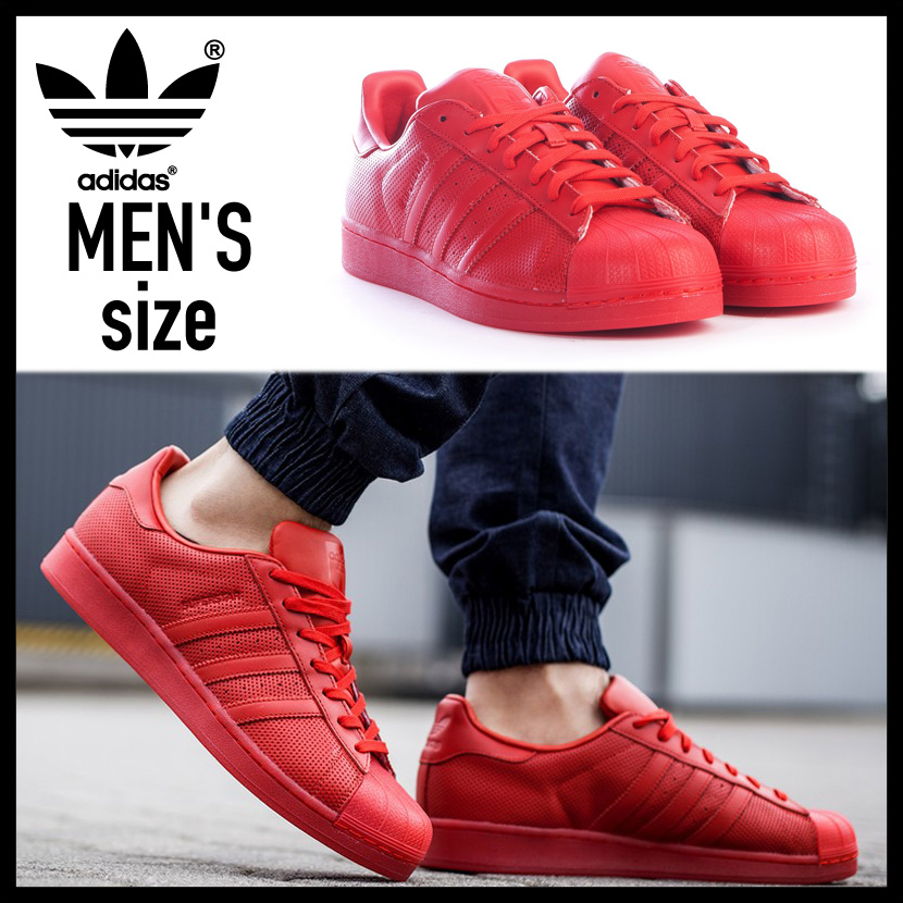 adidas (Adidas) SUPERSTAR ADICOLOR (?????????????) MENS sneakers shoes  SCARLE/SCARLE/SCARLE (red) S80326 ENDLESS TRIP (endless trip)
