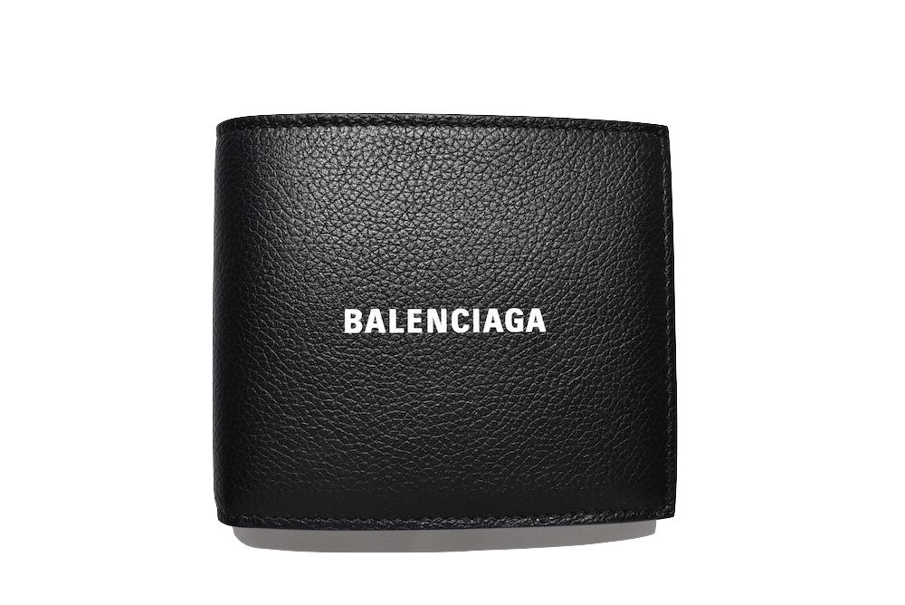 【送料無料】BALENCIAGA LOGO WALLET BLACK WHITEバレンシアガ ロゴ エブリデイ ミニウォレット 財布 二つ折り 札入れ ブラック ユニセックス メンズ レディース