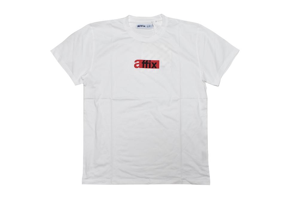 【送料無料】AFFIX LOGO TEE T-SHIRTS WHITE 半袖 Tシャツ カットソー ユニセックス メンズ レディース ホワイト アフィックス