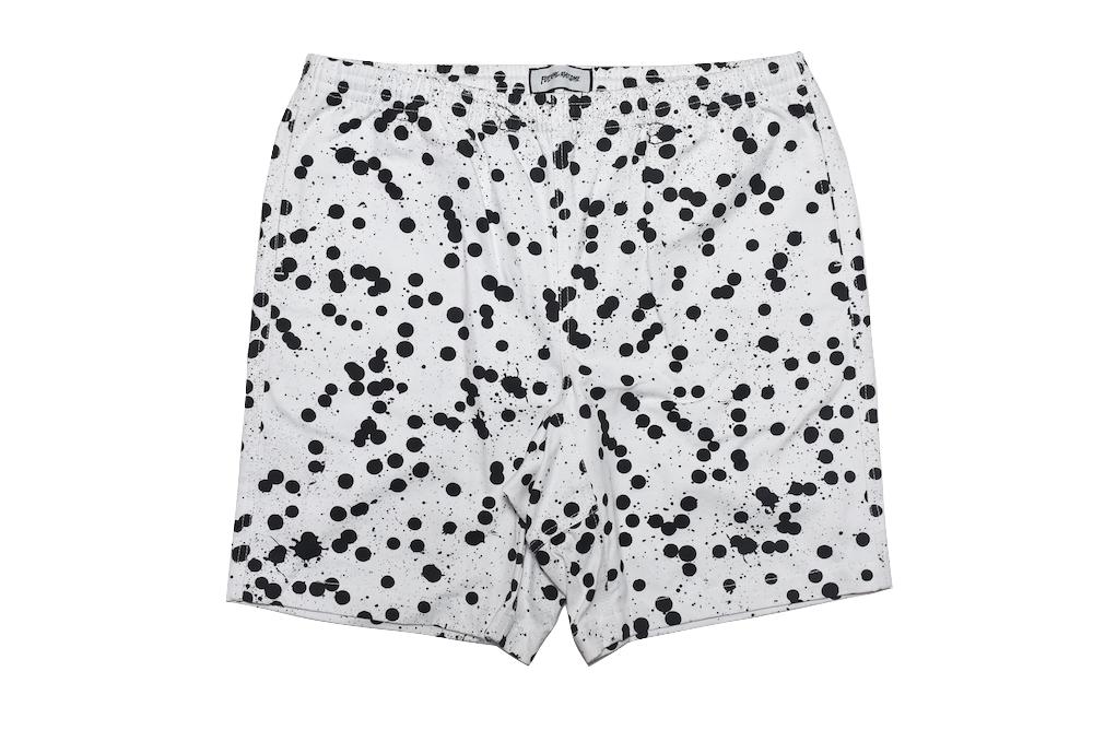 【送料無料】FUCKING AWESOME PAINT SHORTS WHITE BLACK ショーツ ショートパンツ パンツ メンズ ファッキンオーサム ボトムス ドット柄 ペイント ホワイト ブラック