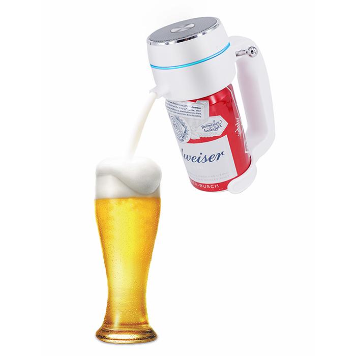 旨みを閉じ込めて 美味しさも長持ち 超音波式ハンディビールサーバー ENERG 家庭用 宅配便送料無料 泡立て 缶ビール用 ジョッキタイプ 最新 極細泡 クリーミー泡 パーティーに最適T19-ENBR バッテリ付き 内祝い お祝い ホワイト 景品 父の日 プレゼント ピクニック 母の日