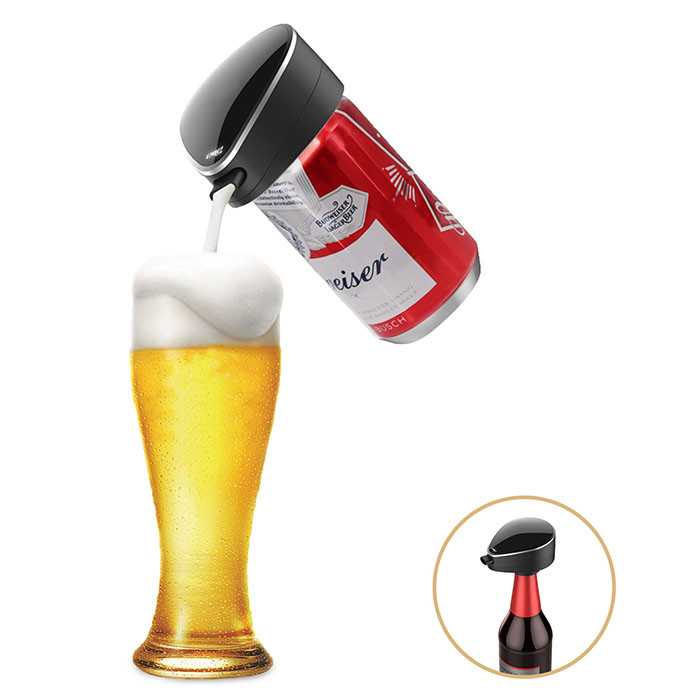 極め細かい濃密泡へ 超音波式ハンディビールサーバー 泡立て 缶ビール 瓶ビール両用 極細泡 クリーミー泡 正規店 バッテリ付き プレゼント パーティーに最適 母の日 景品 父の日 お祝い T19-ENBRAT 大好評です ピクニック
