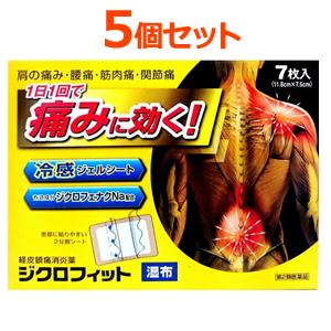 関節痛 ファクトリーアウトレット 肩こりに伴う肩の痛み 腱鞘炎 第2類医薬品 ジクロフィット湿布7枚入×5個セット関節痛肩こり冷湿布 5個セット 驚きの価格が実現