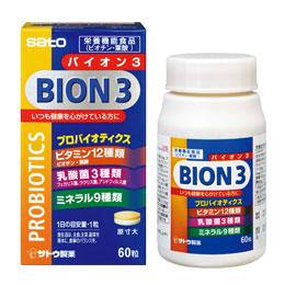 SATO pharmaceutical BION3 (Baião 3) 60 tablets