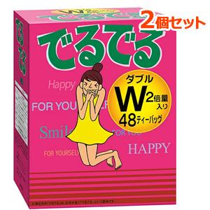 朝のスッキリを応援する健康茶 2個セット 昭和製薬 でるでるW ノンカフェイン ×2個セットノンカロリー 男女兼用 卓越 7.4g×24包入り