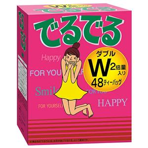 朝のスッキリを応援する健康茶 贈呈 昭和製薬 でるでるW 7.4g×48包入りノンカロリー ノンカフェイン 海外並行輸入正規品