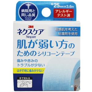 病院用と同じ品質 肌が弱い方のためのシリコーンテープ 3M バーゲンセール ストアー 幅25mm×3.6m ネクスケア