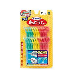 【小林製薬】糸ようじ 奥歯に使いやすい Y字型 18本入