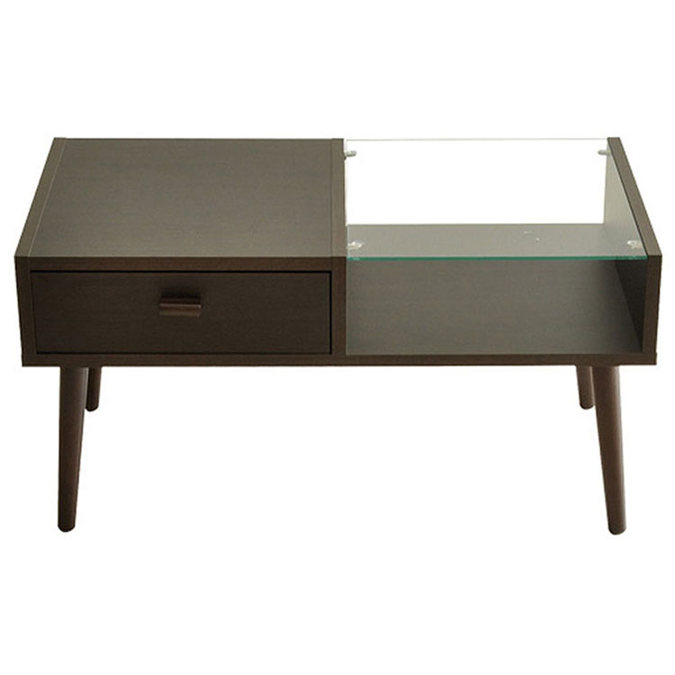 テーブル CT-845 ダークブラウン ホワイト ライトブラウン【代引不可】【MT】【TD】(テーブル リビングテーブル サイドテーブル)【取り寄せ品】