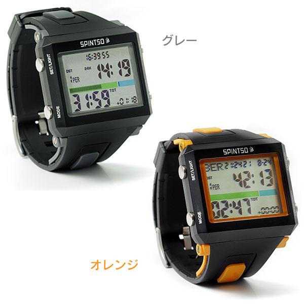 【送料無料】スピンツォ (SPINTSO) レフリーウォッチ SPT-100-GR・SPT-100-OR グレー・オレンジ【HD】【TC】新生活 一人