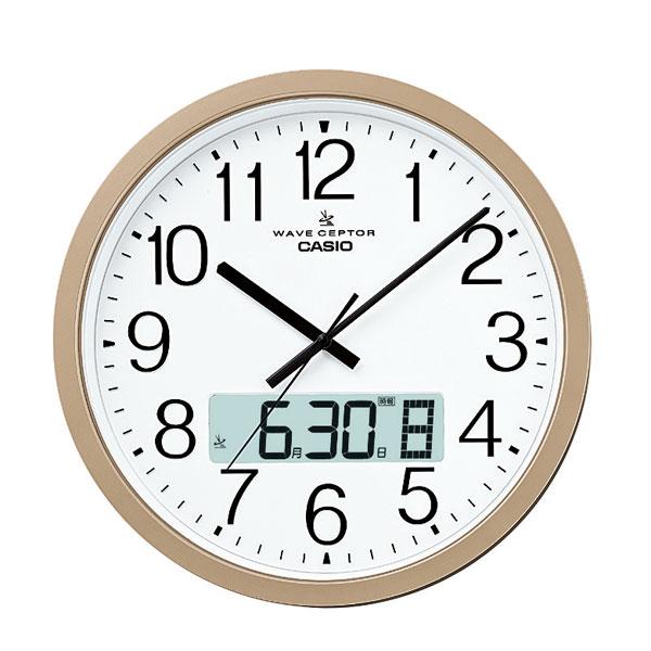 【送料無料】CASIO[カシオ]電波掛時計 IC-4100J-9JF【D】[電波時計/壁掛け/プログラム時報付] 一人