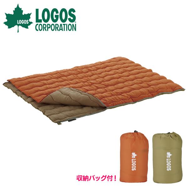 【送料無料】ロゴス(LOGOS) 2in1・Wサイズ丸洗い寝袋・2【D】【NW】