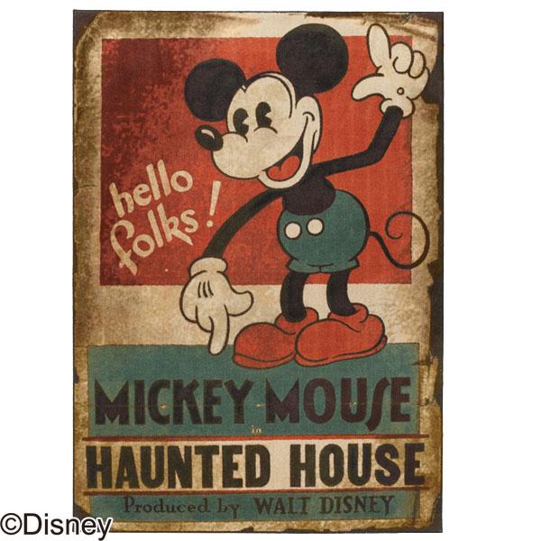 【送料無料】MICKEY/Haunted house RUG DRM-1035 100×140 ラグ カーペット ディスニー ミッキー 日本製 アンティーク おしゃれ キャラクター 防ダニ 耐熱加工 【TD】【スミノエ】新生活 一人