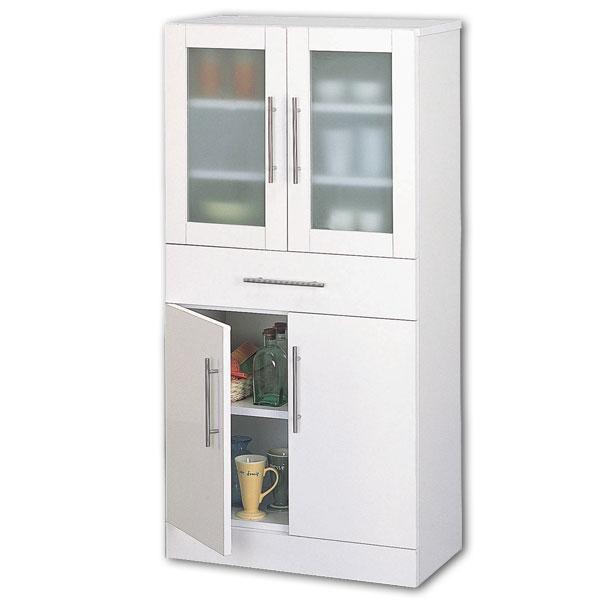 【送料無料】【TD】カトレア・食器棚60-120 23463 キッチン収納 リビング収納 皿収納 食器収納【代引不可】【クロシオ】 衣替え【取り寄せ品】