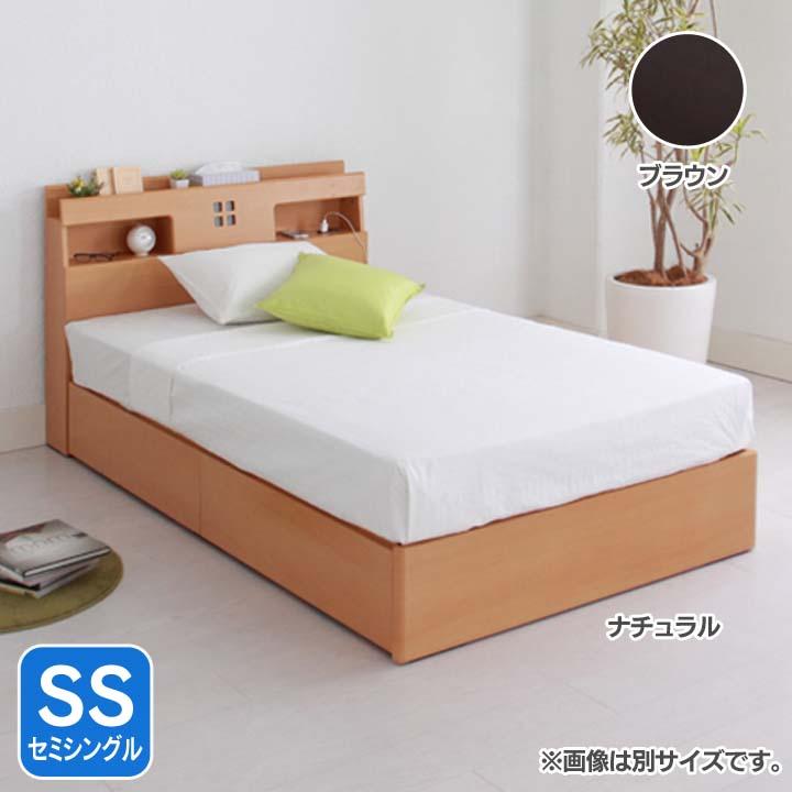宮付き引出し収納ヘッドSS AQUSSDRBR送料無料 ベッド セミシングル 寝室 ベッドルーム 寝具 ホワイト【TD】 【代引不可】新生活 一人