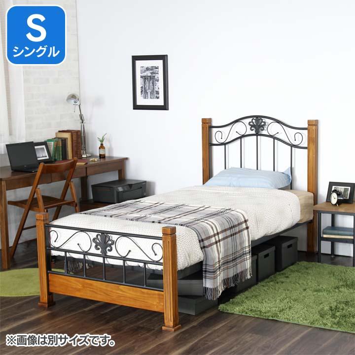 クラシックアイアンベッドS ブラウン CRBSBR送料無料 ベッド シングル 寝室 ベッドルーム 寝具 【TD】 【代引不可】