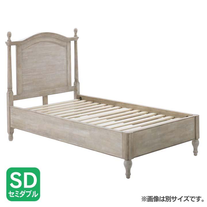 シャビーシックベッドSD ホワイト SSLSD送料無料 ベッド セミダブル 寝室 ベッドルーム 寝具 【TD】 【代引不可】新生活 一人