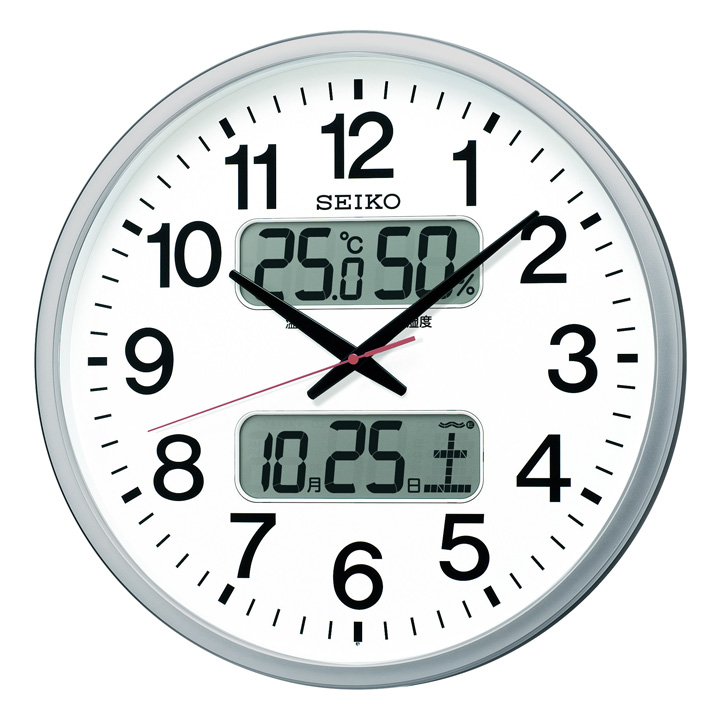 セイコークロック seikoclock ウォールクロック 壁掛け時計 掛け時計 電波時計 トレンド アナログ時計 温度 電波掛時計 湿度 セイコー 電池 D ショップ KX237S送料無料 25日はP5倍 SEIKO