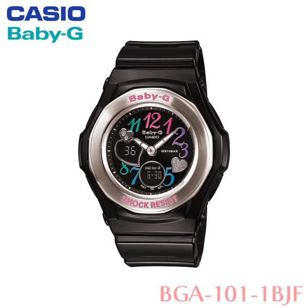 【送料無料】カシオ〔CASIO〕Baby-G 防水腕時計 BGA-101-1BJF 〔ベイビージー レディース 女性用〕【HD】【TC】 [CAWT]新生活 一人