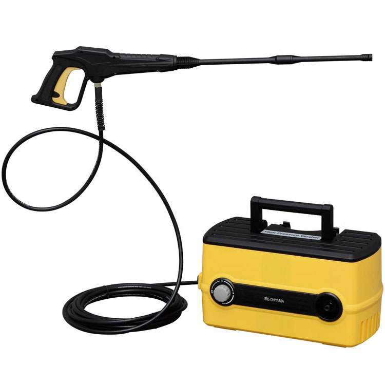 【送料無料】届いたらすぐに使える!高圧洗浄機 静音タイプ FBN-604 イエロー アイリスオーヤマ 水圧調整 ベランダ 洗車 外壁 専用パーツ10種類 メンテナンスツール3種 [cpir]