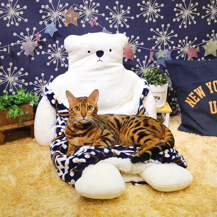 もぐってねんね シロクママ あったか ペットベッド 猫用ベッド 犬用ベッド 小型犬 春用 秋用 冬用 防寒 寒さ対策 ペット用 ペット ベッド カドラー マット クッション 猫 犬 座布団 ポケット ぬいぐるみ しろくま 白くま 93856 ドギーマンハヤシ 【D】