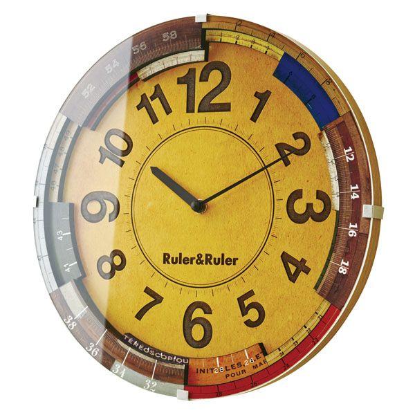 【送料無料】掛け時計 Ruler&Ruler ルーラールーラー CL-9584 【TC】【掛時計 時計 掛け時計 おしゃれ 北欧 アンティーク かわいい クロック 北欧】新生活