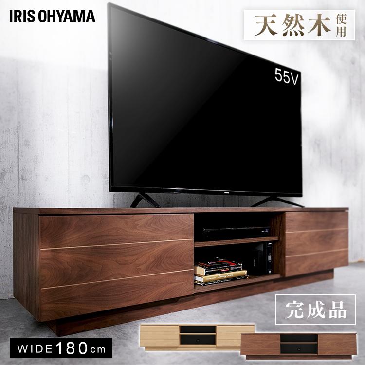 ボックステレビ台 アッパータイプ BTS-SD180U-WN ウォールナット送料無料 テレビ台 おしゃれ テレビボード TV台 棚 ローボード AVボード 完成品 アイリスオーヤマ