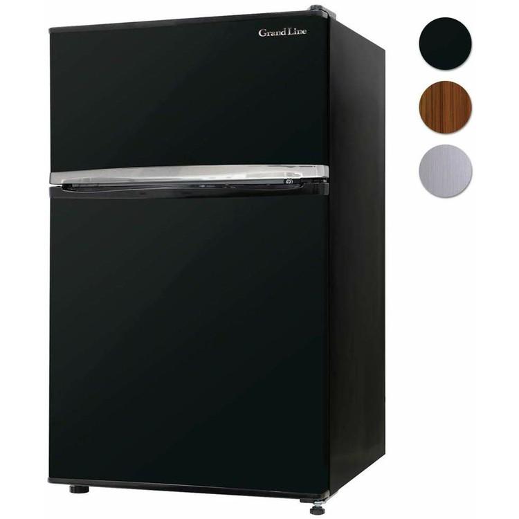 冷蔵庫 2ドア 木目調 冷凍庫 90L ARM-90L02 冷凍冷蔵庫 小型 家庭用 2ドア 冷蔵庫 2扉 家電 左右ドア おしゃれ ブラック 黒 木目調 ブラウン シルバー 新品 Grand Line A-Stage