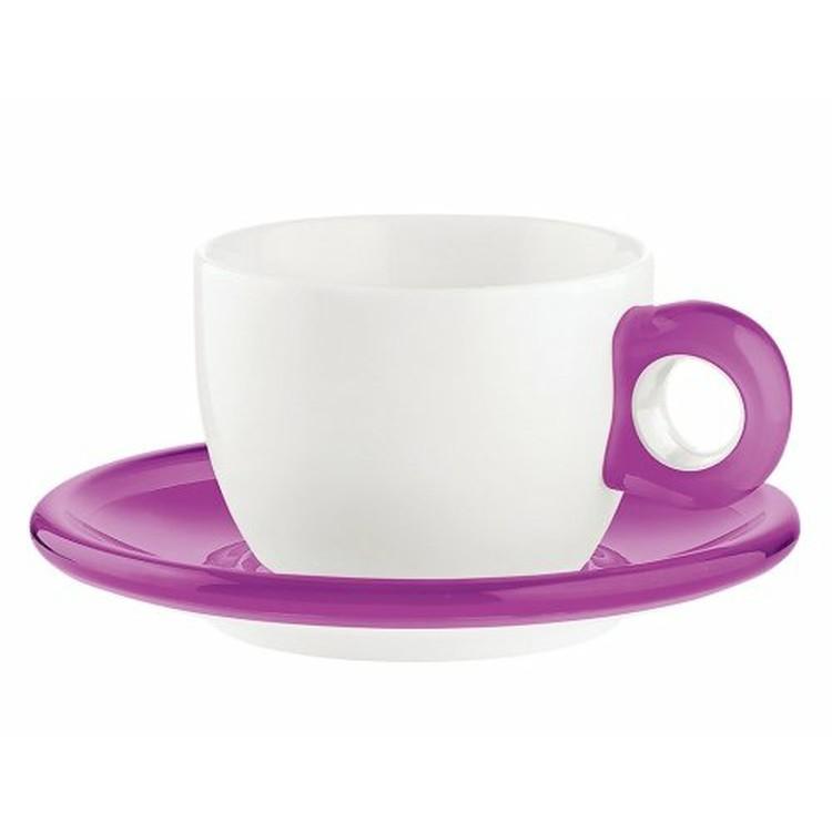 【送料無料】グッチーニ ティー/コーヒーカップ 2Pセット 200cc バイオレット・グリーン・オレンジ・レッド【en】 おしゃれ 【楽ギフ】