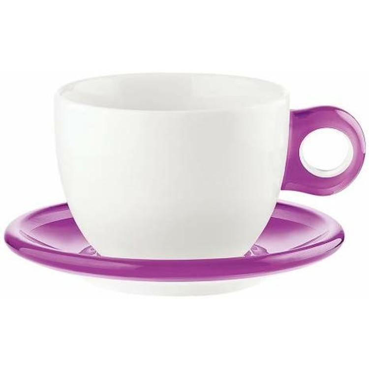 【送料無料】グッチーニ ラージコーヒーカップ 2Pセット 450cc クリアー・バイオレット・グレー・グリーン・オレンジ・レッド【en】 おしゃれ 【楽ギフ】