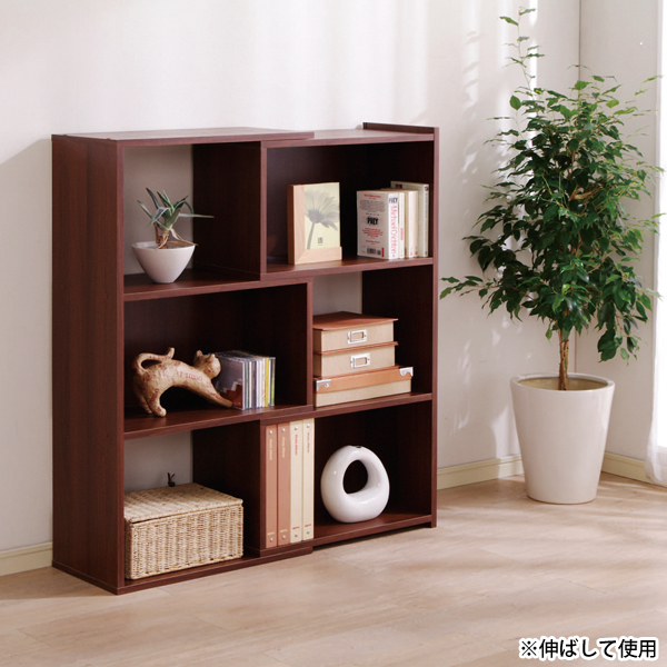 X Bookshelf Display Case Rack Expansion And Contraction Free 60 105cm