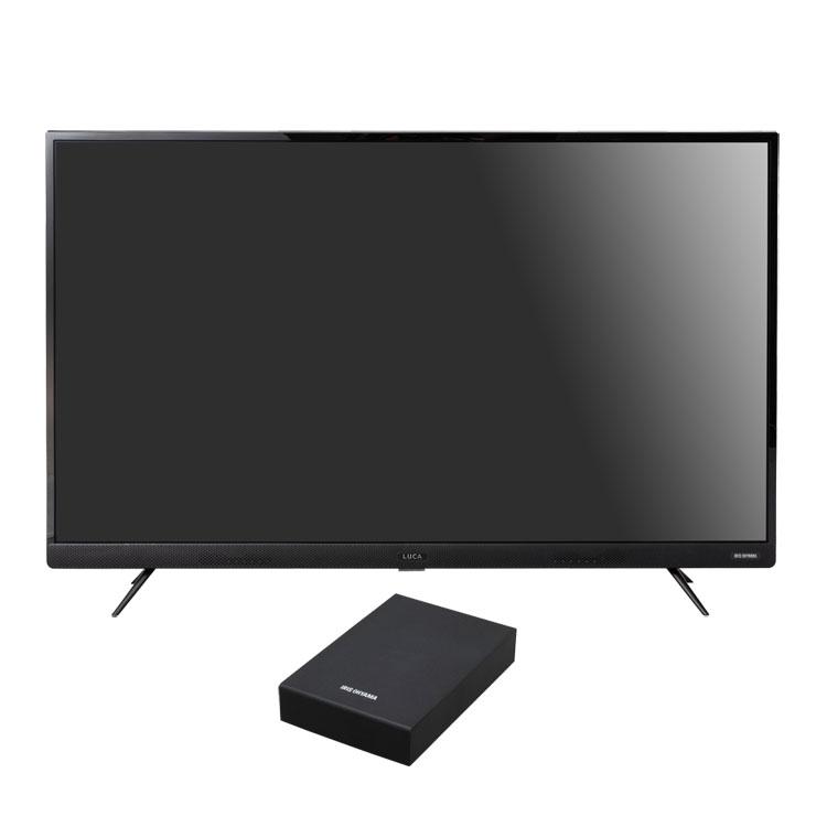 【2点セット】テレビ 49型 HDD セット送料無料 4Kテレビ 49型 音声操作 外付けHDDセット品 テレビ HDD セット TV 4K 音声操作 49型 外付け ハードディスク アイリスオーヤマ