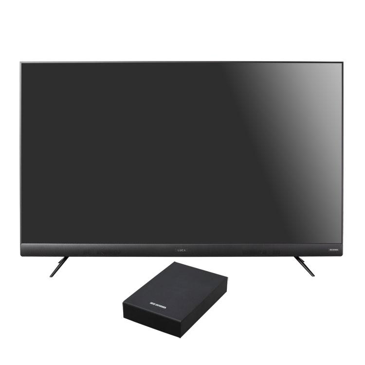 【2点セット】テレビ 55型 HDD セット送料無料 4Kテレビ 55型 音声操作 外付けHDDセット品 テレビ HDD セット TV 4K 音声操作 55型 外付け ハードディスク アイリスオーヤマ