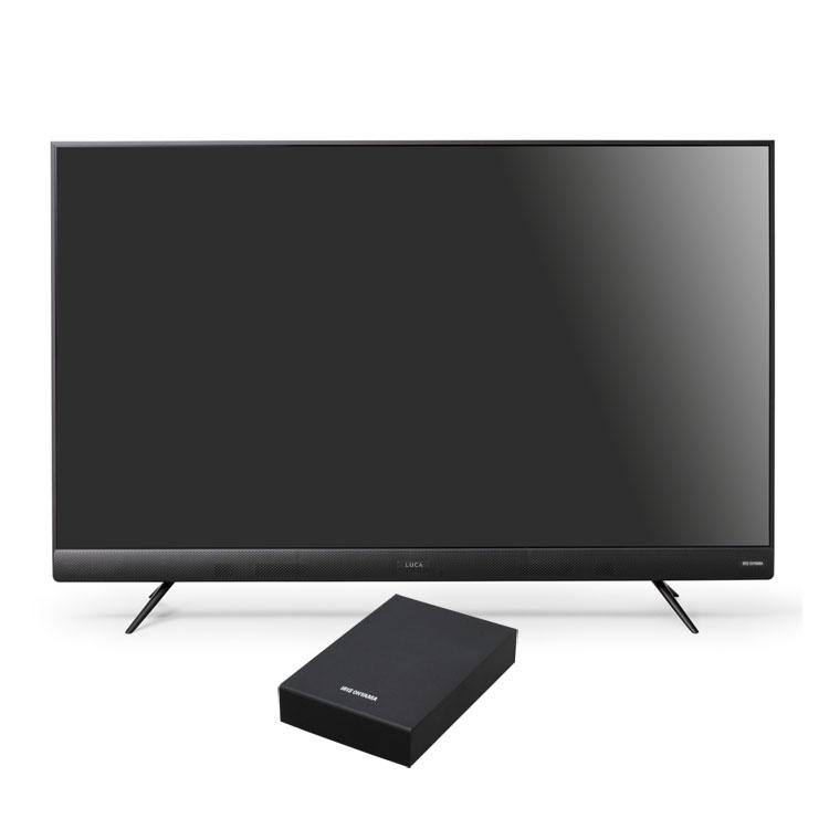 【2点セット】テレビ 50型 HDD セット送料無料 4Kテレビ フロントスピーカー 50型 外付けHDDセット品 テレビ HDD セット TV 4K フロントスピーカー 50型 外付け ハードディスク アイリスオーヤマ