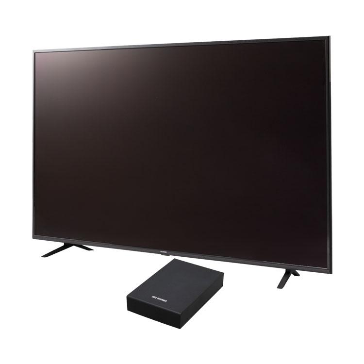 【2点セット】テレビ 65型 HDD セット送料無料 テレビ Fiona 65v 外付けHDDセット品 テレビ HDD セット TV 4K 65v 65型 外付け ハードディスク アイリスオーヤマ
