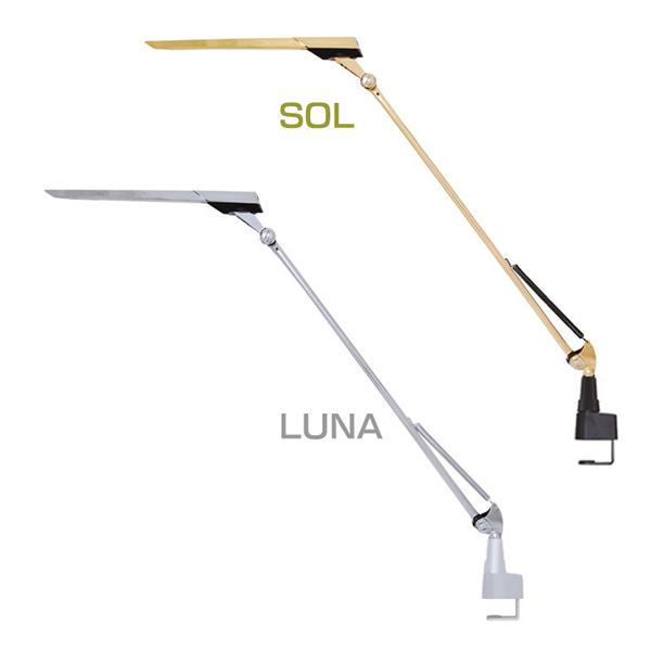 【エントリーで最大ポイント2倍】【送料無料】LEDIC EXARM DIVA LEX-973 SOL・LUNA【NGL】【B】【デスクライト クランプタイプ スワン電器】 おしゃれ