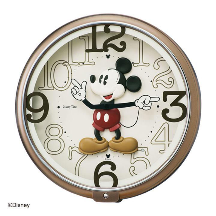 【150円OFFクーポン配布中】時計 【時計 掛け時計】セイコークロック ディズニー ミッキー 掛時計【Disney おしゃれ かわいい 子供 ミッキー】保土ヶ谷 FW576B